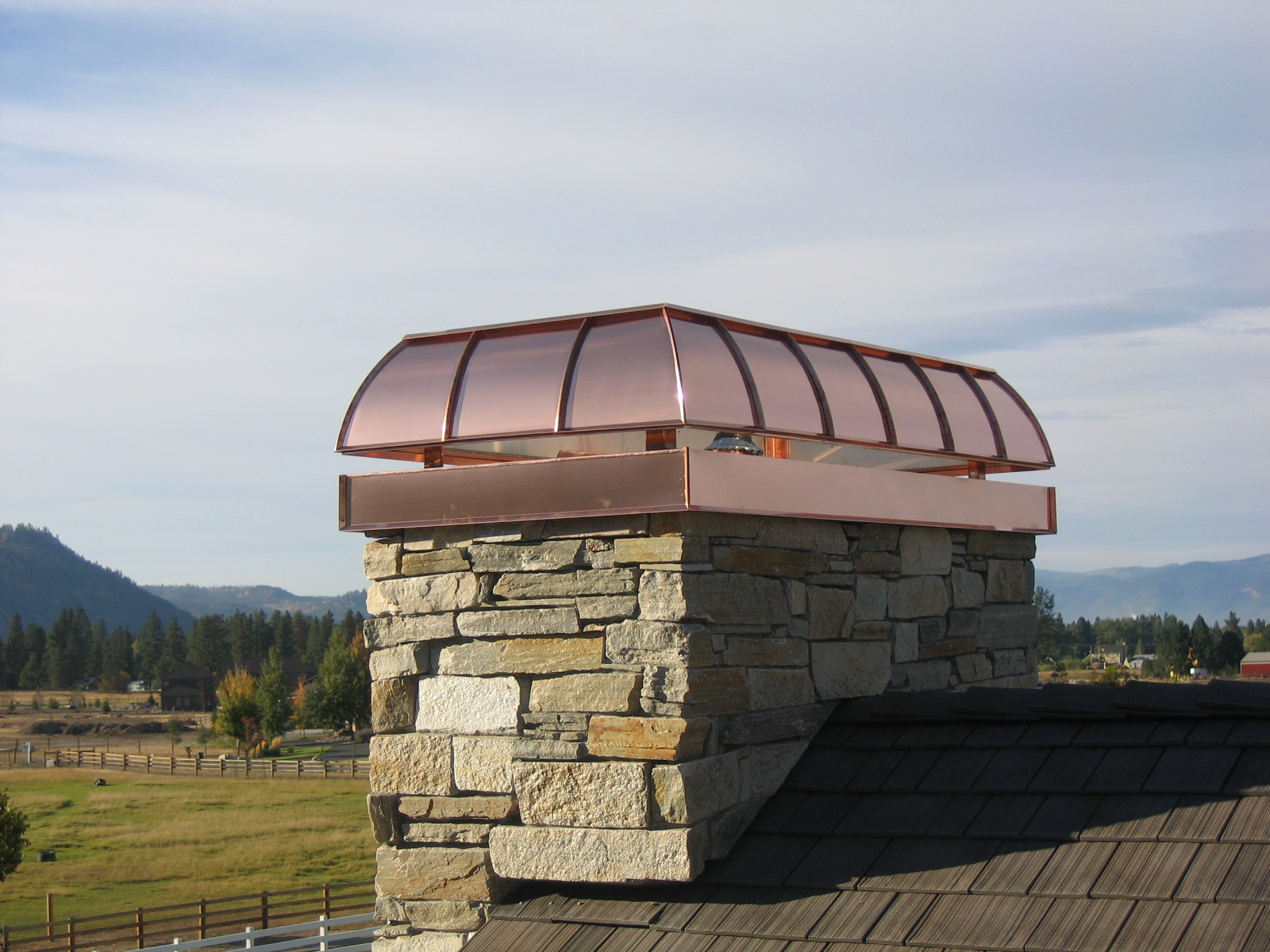 Chimney Cap Design : Architectural copper chimney caps