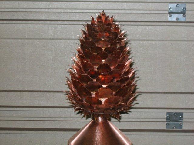 Pine Cone Copper Finial Mountain Copper Creations