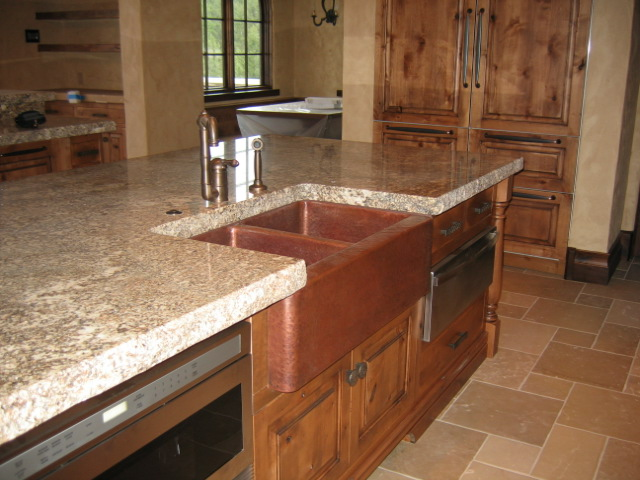 Built To Order Rustic Farm Front copper sink
