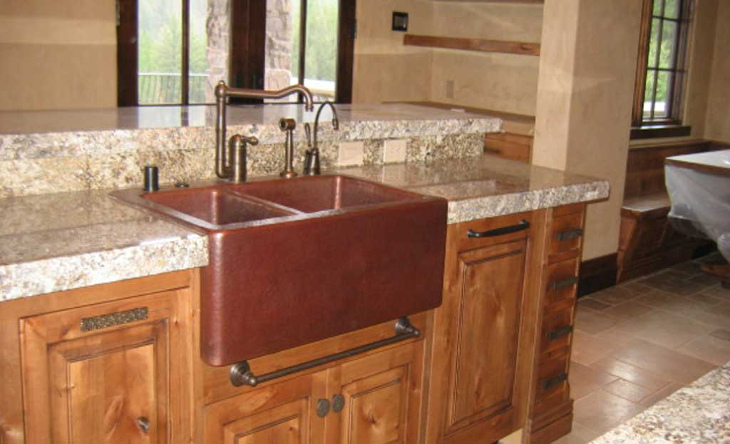 Double Basin Farm Front Rustic Handmade Copper Sinks