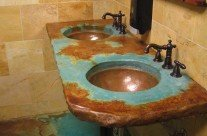 Custom Copper Basins Round Valley Basin Bowl (undermount)