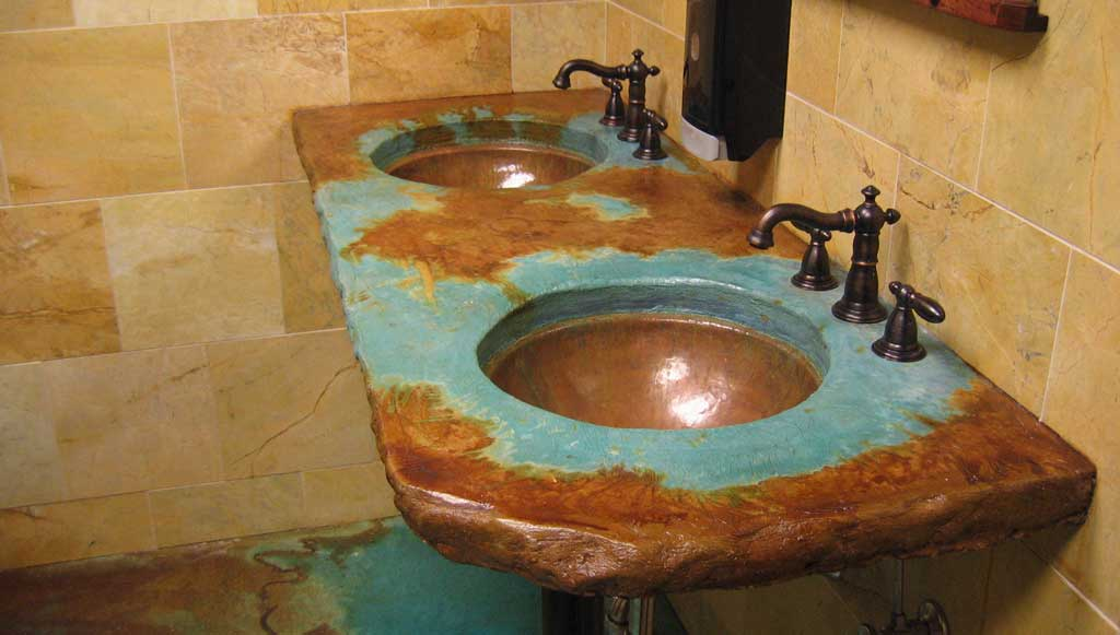 unique undermount bathroom sinks custom copper basins valley basin bowl 21165