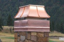 Montana Made Custom Copper Chimney Caps