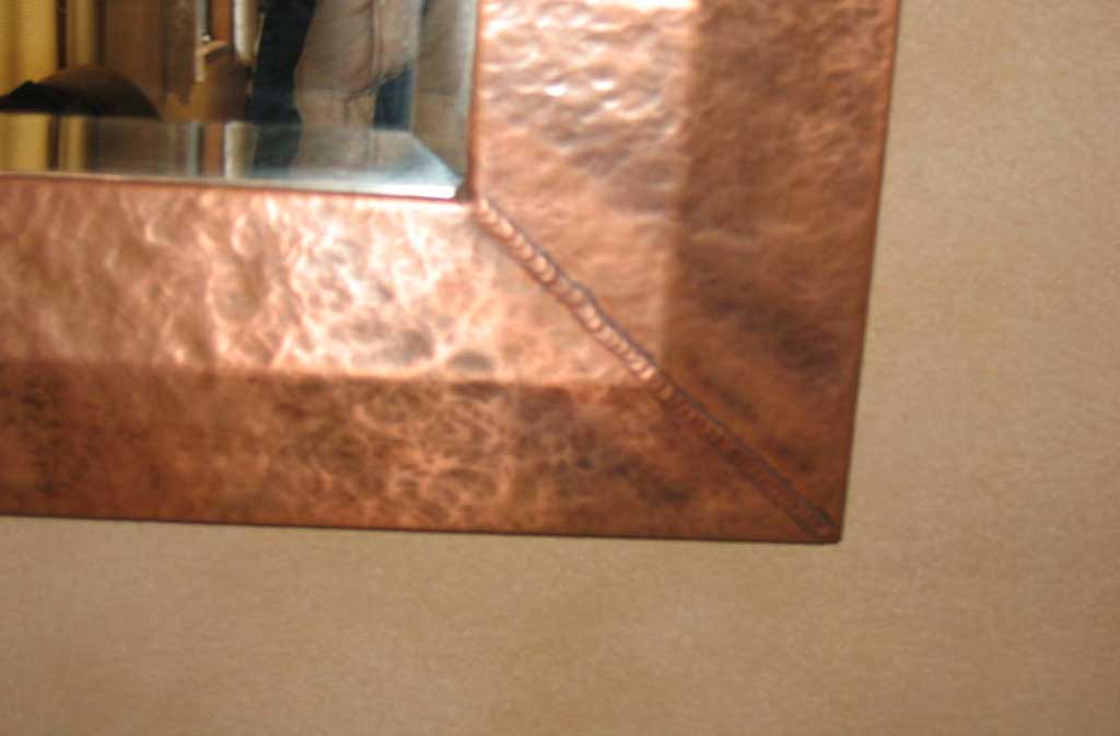 Hand Hammered Copper Mirror Frames