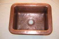 Rustic Handmade Copper Sinks- Bar Prep