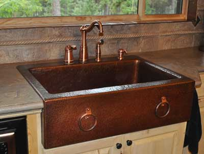 Mountain Rustic Copper Farm Sink