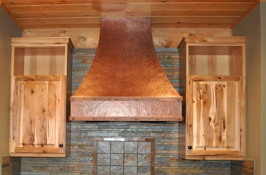 Rustic Copper Range Hood Whitney