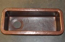 Hand Hammered Copper Bar Trough Sink