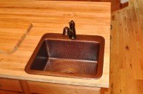 Mountain Cabin Bar/Prep Copper Sink