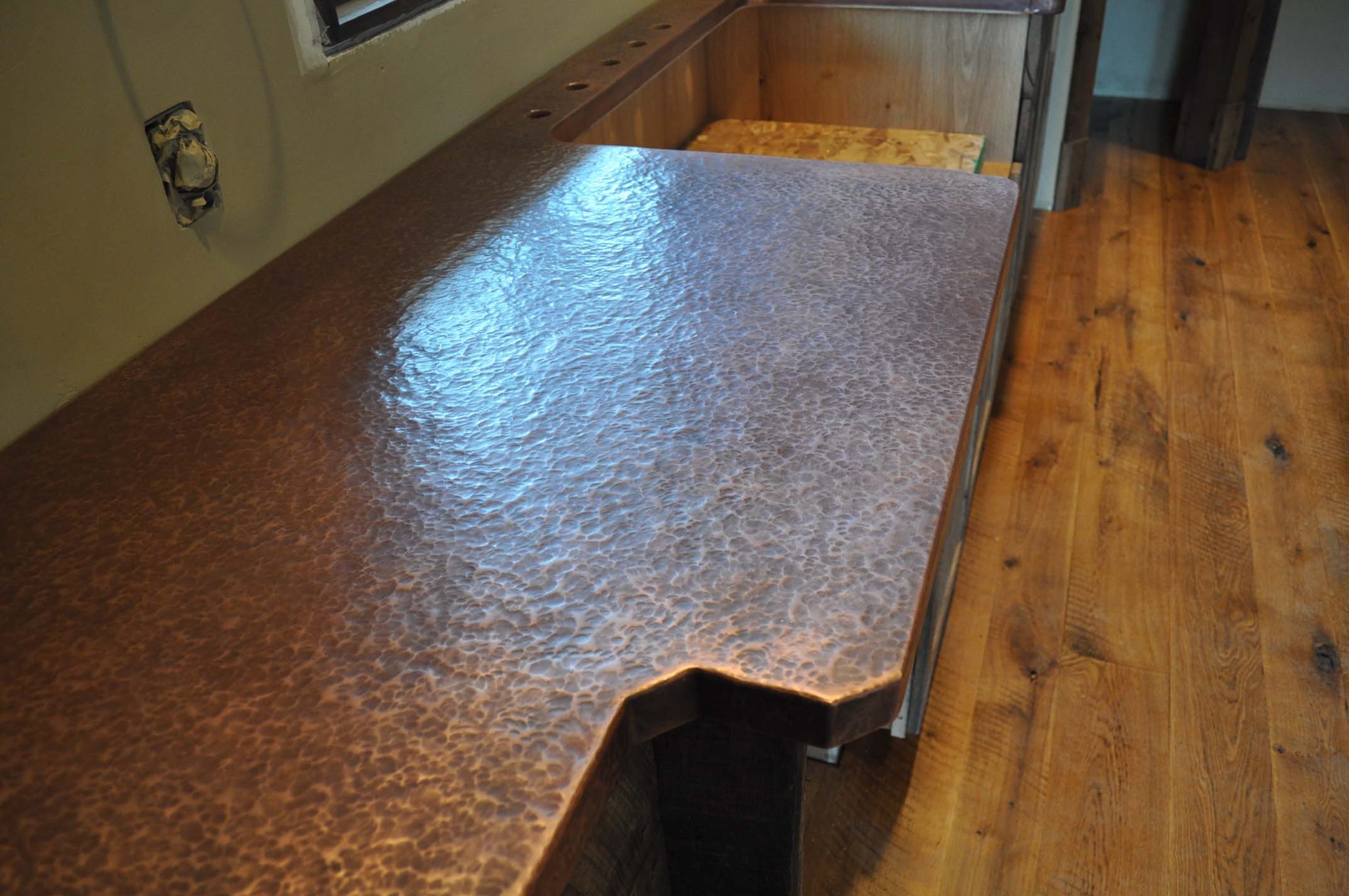 how to clean copper countertops