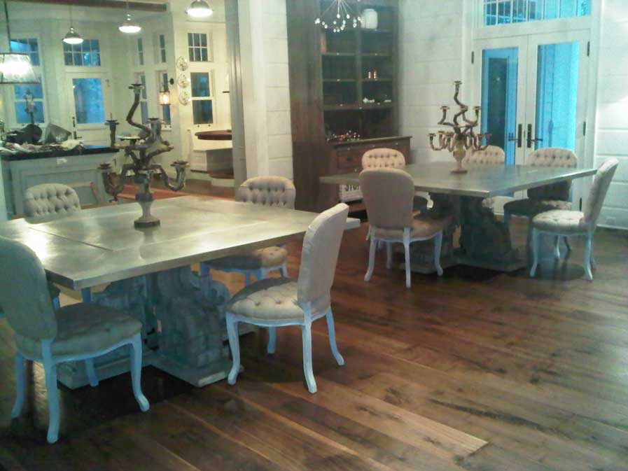 Custom Zinc Table Tops