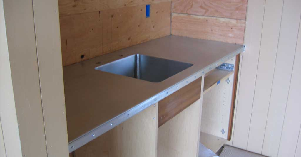 Zinc Counter Top / Integrated Zinc Sink