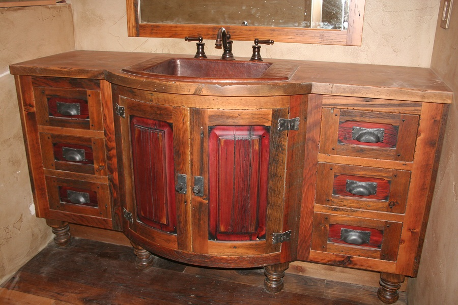 Cool Vanities  Barnwood Vanity Reclaimed Wood Rustic Vanities  Woodland
