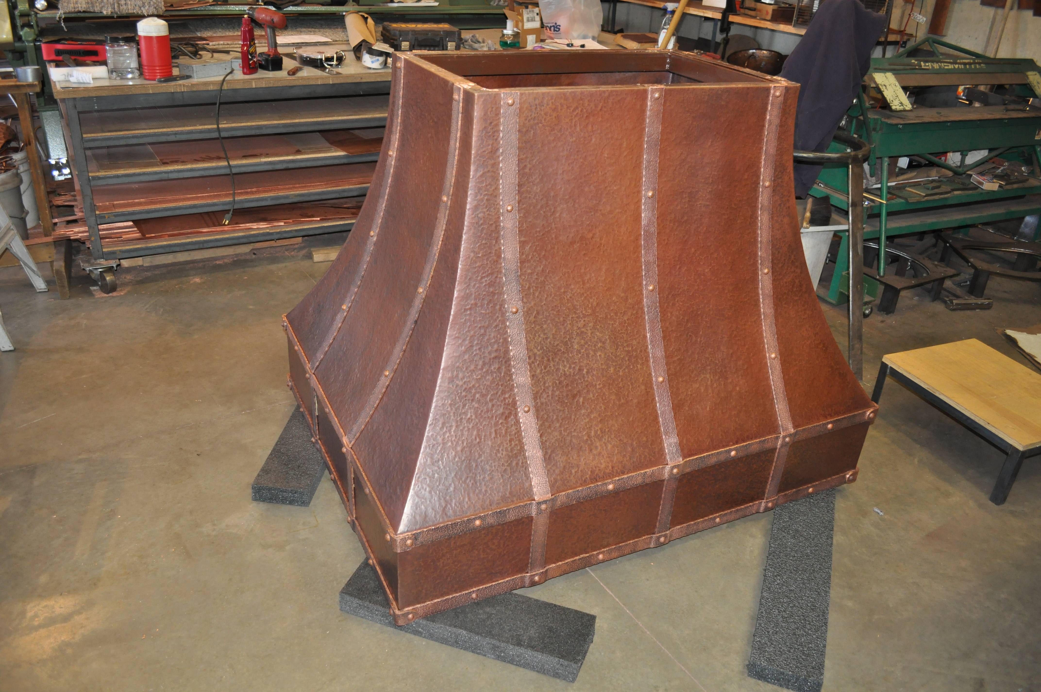 Kitchen Island Tops The Texas Rustic Copper Range Hood Hand Crafted