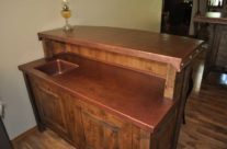Rustic Copper Bar Counter Top