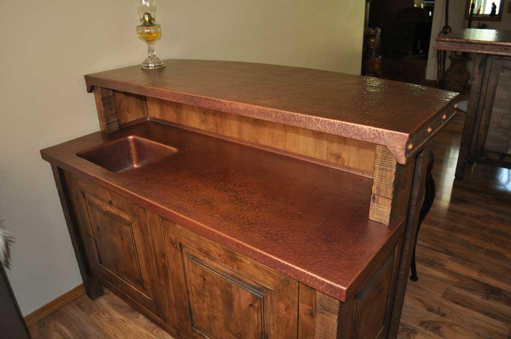 Rustic Copper Bar Counter Top