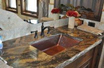 Copper Trough Sink-Sloped Sides