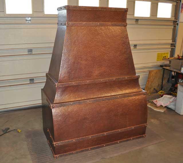 Rustic Range Hoods ~ Pioneer mountain rustic copper range hood quality aritistry