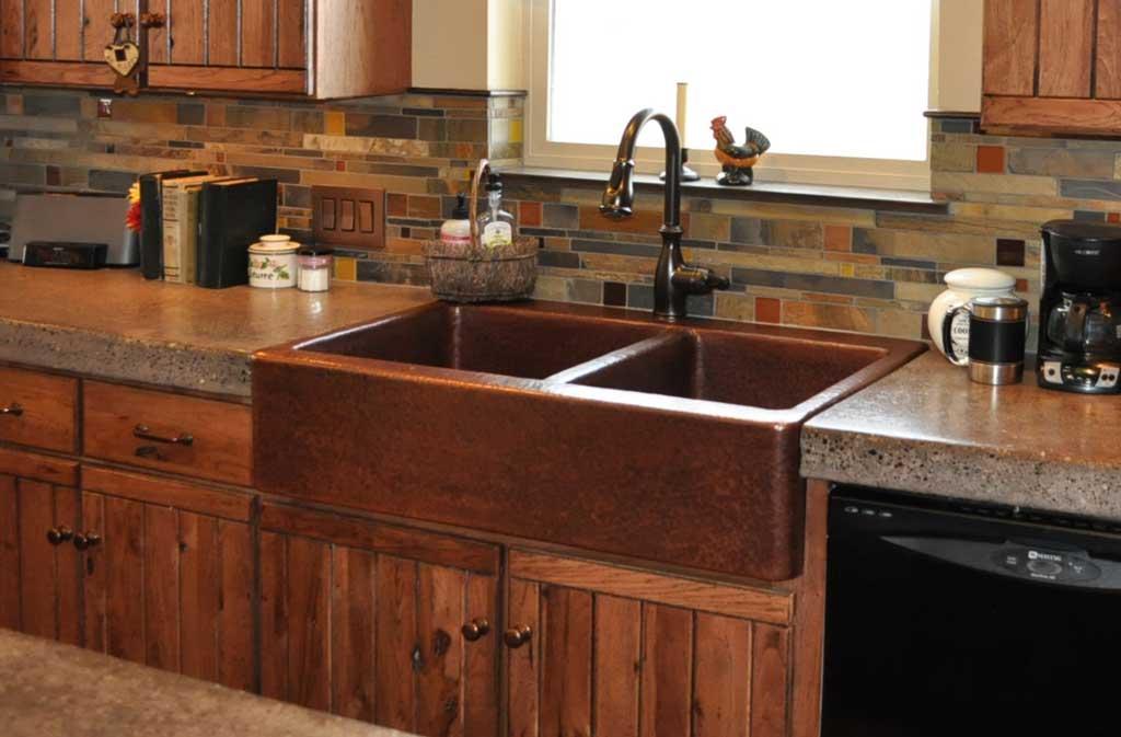Mountain Rustic Farm Front Copper Kitchen Sink - Mountain Copper ...