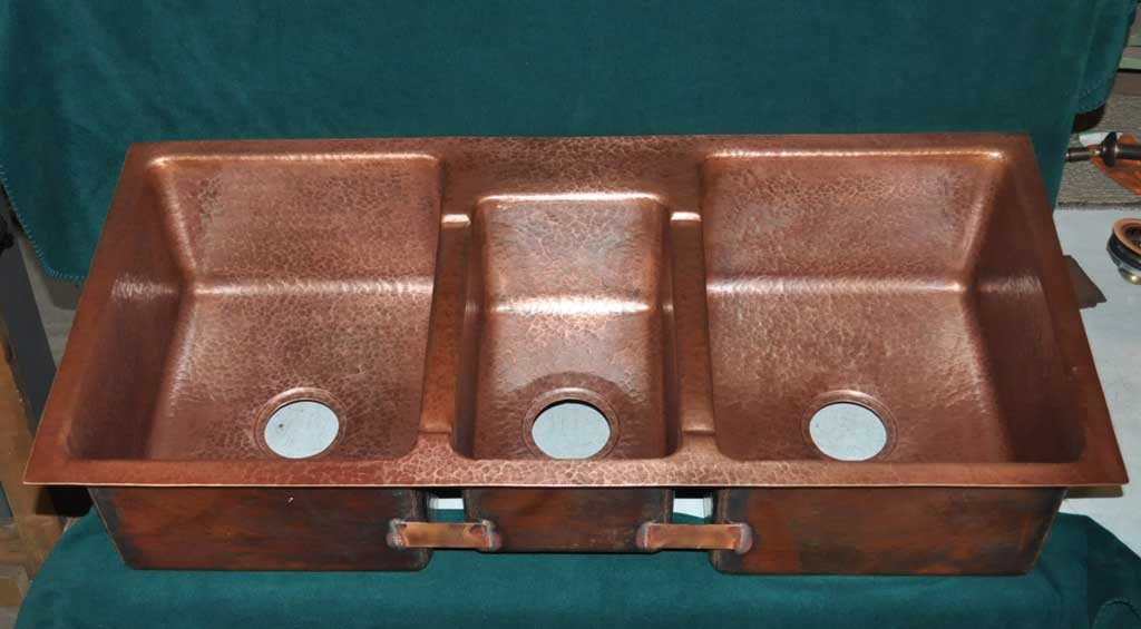 Triple Basin Copper Sink