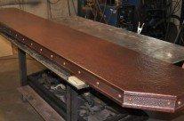 Copper Bar Top Inlay Rivets