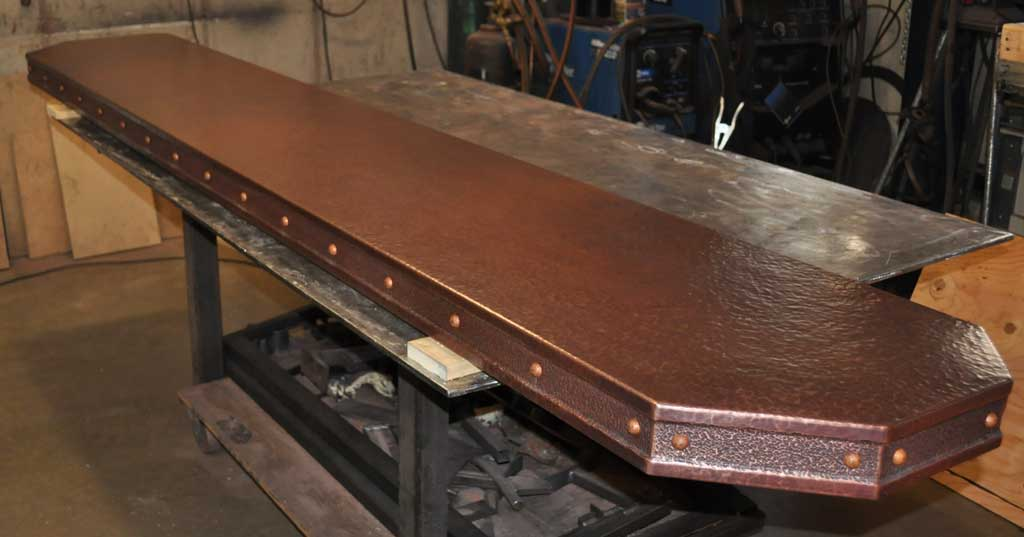 Copper Bar Top Inlay Rivets