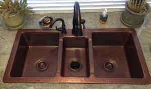 Triple Basin Copper Sink Su