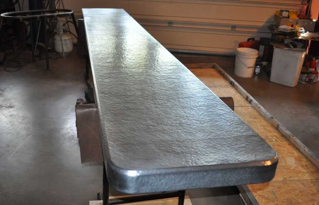 Hammered Zinc Countertop