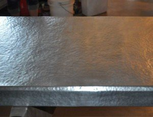 Hammered Zinc Countertop - Mountain Copper Creations