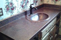 Antique Copper Vanity-Copper Sink
