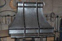 Zinc Range Hood Blackened Steel Bar