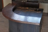 Custom Copper Bar Counter Top radius on inside and outside edges