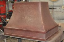 Custom Copper Range Hood-simple design