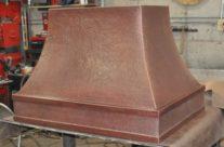 Custom Copper Range Hood-simple design
