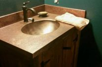 Copper Vanity Sink Top