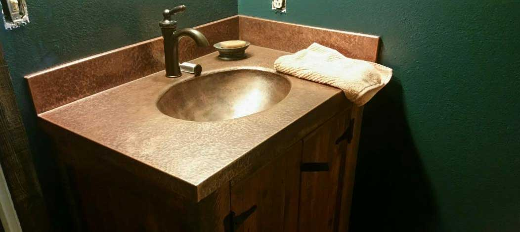 Copper Vanity Sink Top