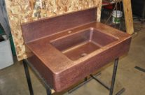 Copper Sink Sloped Sides – Counter Top