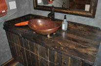 Slipper Vessel Copper Vanity Sink