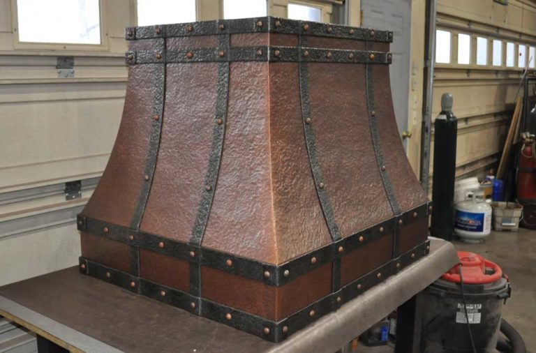 Copper Island Range Hood Frontier Mountain Copper Creations