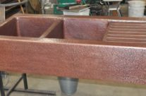 Copper Drain Board Kitchen Farm Sink