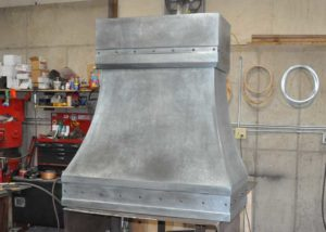 Zinc Range Hood Wall Mount Box Crown