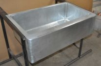 Zinc Farm Sink Single Basin Hand Hammered