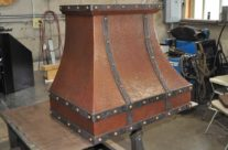 Rustic Copper Range Hood Circle