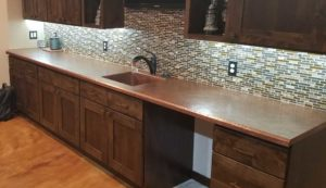 Rustic Custom Copper Counter top