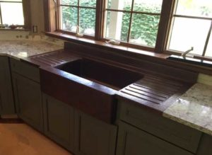 Custom Copper Sink Satisfied Customer