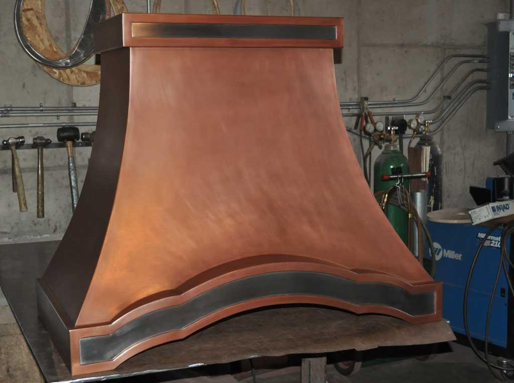 Custom Copper Wall Hood French Design