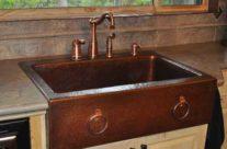 Mountain Rustic Copper Farm Sink