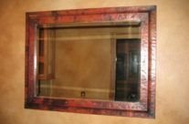 Copper Framed Mirrors