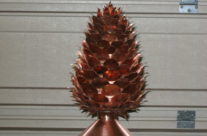 Pine Cone Copper Finial
